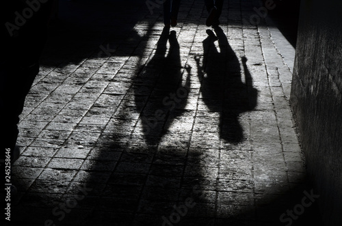 Foto  Pareja en sombra