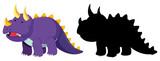 Fototapeta Dinusie - Set of dinosaur character