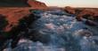 Aerial Iceland River Rapids