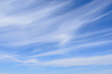 Cirrus Clouds On Blue Sky, Thi...