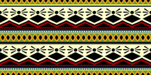 African Tribal Motif Seamless Pattern Vector Illustration Trendy Hand Drawn Ready For Print