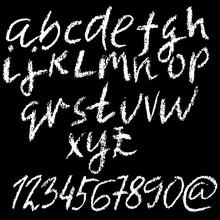 Chalk Lower Case Font. Grunge ...