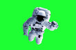 canvas print picture - Green Screen Astronaut - Elements of this Image Furnished by nASA
