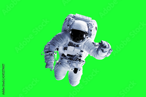 Photo Green Screen Astronaut - Elements of this Image Furnished by nASA