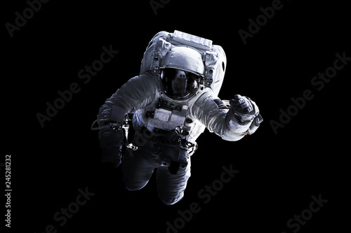 Astronaut Afloat - Elements of this Image Furnished by nASA - 245281232