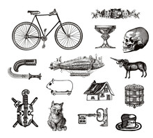 Vintage Victorian Objects Collection