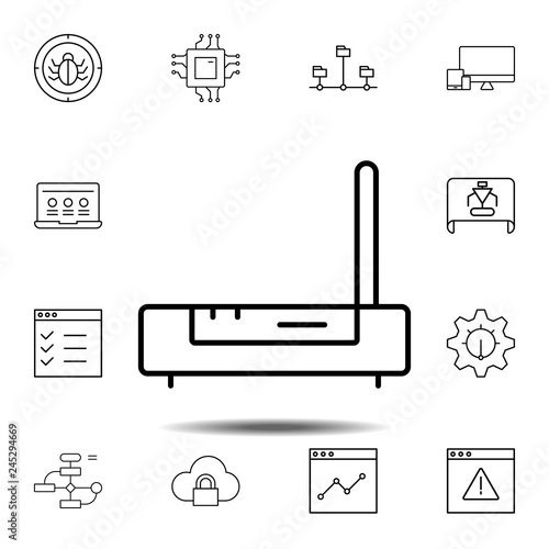 design, modem icon  simple thin line, outline vector element of web design  development icons set for ui and ux, website or mobile application