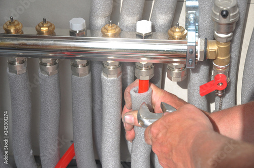 Fotografia Radiant Floor Heating Installation