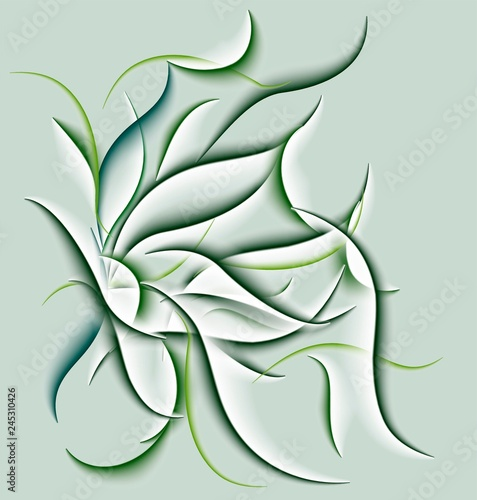 abstract green lines background. vector illustration.