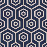 hexagonal mesh seamless scribble pattern - 245312027