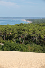 View From The Dune Of Pilat, The Tallest Sand Dune In Europe. La Teste-de-Buch, Arcachon Bay, Aquitaine, France