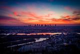 Fototapeta Miasto - Warszawa o zmierzchu