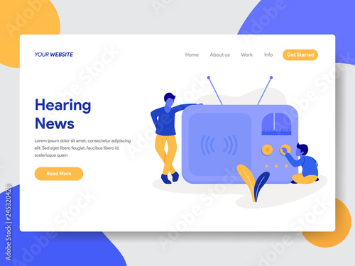 Landing page template of Hearing News from Radio