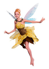 3D Rendering Fantasy Fairy On ...