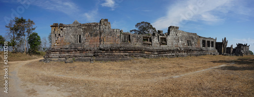 Preah Vihear,Cambodia-January 10, 2019: Palace and Third