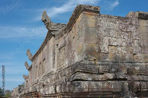 Preah Vihear,Cambodia-January 10, 2019: Palace and Third Gopura of