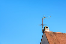 Low Angle View Of A TV Antenna...