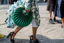 Street Style Details-green Bag From Milan Fashion Week Spring Summer 2019