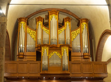 Organ In San Babila Church, Milan Lombardy, Italy.