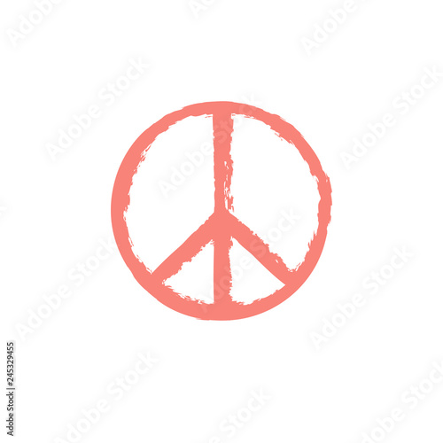 Foto  Peace sign with grunge texture isolated on background.