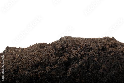 Fotografie, Obraz  heap of ground isolated on white