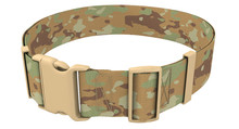Military Camouflage Belt On An Isolated White Background. 3d Illustration