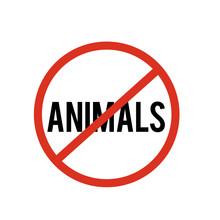 No Animals Icon. No Animals Ic...