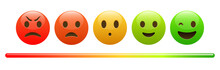 Mood Meter, Scale, From Red An...