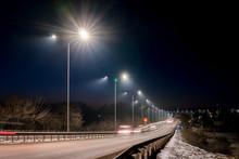 Fast Moving Traffic At Night. ...