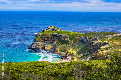 Fotografering  Picturesque view of Cape of Good Hope - the most south-western point of the African continent