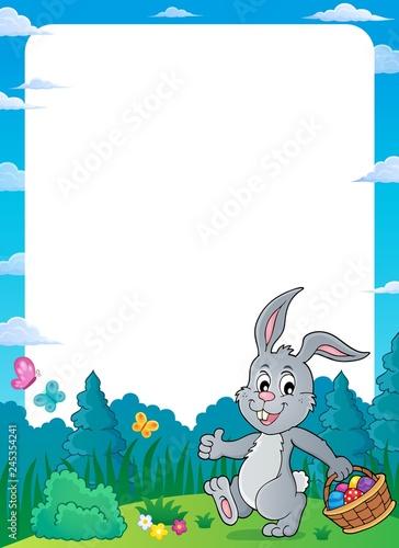 Poster Voor kinderen Frame with Easter rabbit thematics 2