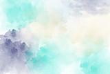 Blue, purple vector watercolor background - 245354412