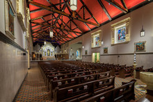 Interior Of The Historic Cathedral Basilica Of St. Augustine Of Saint Augustine, Florida