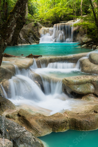 Erawan Waterfall in Thailand is locate in Kanchanaburi Provience. This waterfall is in Erawan national park