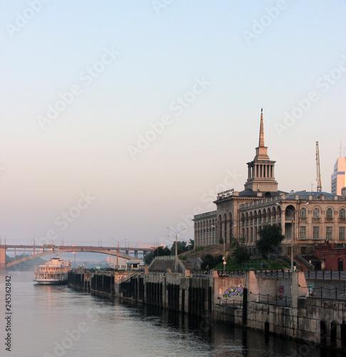 Fototapeta travelling along the Yenisei river obraz