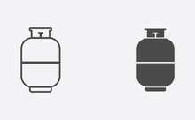 Gas Cylinder Filled And Outline Vector Icon Sign Symbol