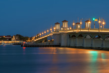 Bridge Of Lions At Night In St...
