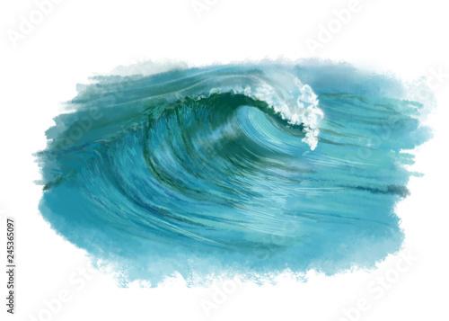 Carta da parati fala morska, oceaniczna, woda, turkus, wave,