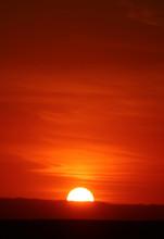 Breathtaking Sunset On The Huacachina Desert In Ica Region, Peru, South America
