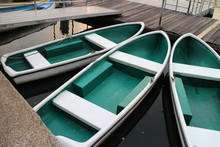 Green Boats In The Lake
