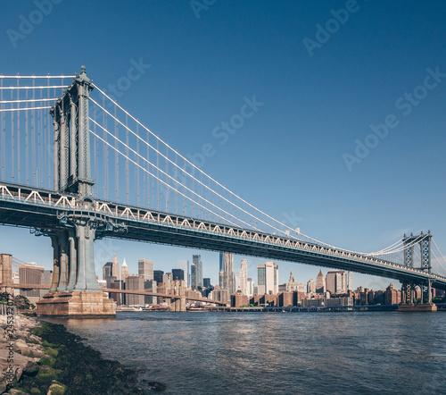 Poster New York City Famous Manhattan Bridge