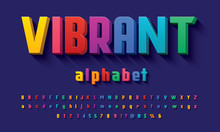 Vector Of Modern 3D Bold Alpha...