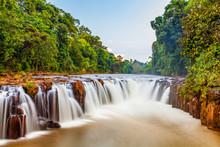Beautiful Waterfall At Tad Pha Suam Waterfall, Pakse, Laos