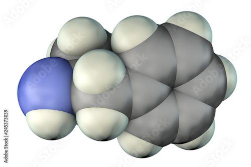 Fotografie, Obraz  Amphetamine molecule, a powerful stimulant of central nervous system and sympath