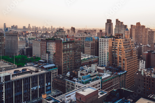 Tuinposter New York City New York districts view