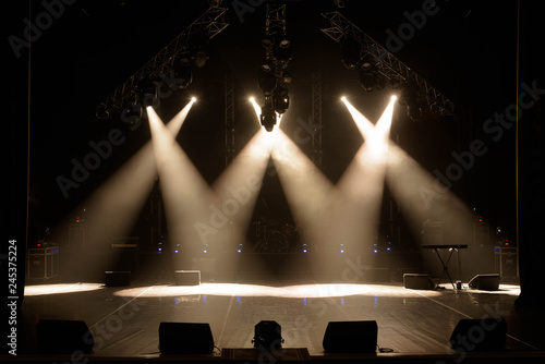Free stage with lights, lighting devices. - 245375224