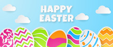 Happy Easter Banner Template. ...