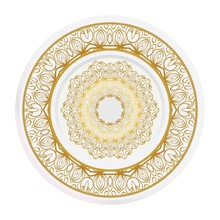 Decorative Plates For Interior Design. Empty Dish, Porcelain Plate Mock Up Design. Vector Illustration.