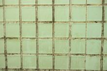 Green Tile In The Bathroom