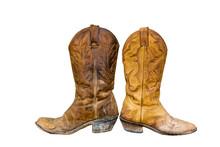 Old, Well-worn Cowboy Boots